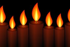 Free Horizontally Seamless Candle Pattern Royalty Free Stock Images - 13807799