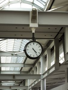 Free Clock At The Airport Of Korea Royalty Free Stock Photography - 13807817