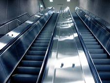 Free Montreal Subway Escalator Stock Photo - 13808420