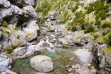 Free View On River Bellos In Canyon Anisclo - Stock Photo - 13809290