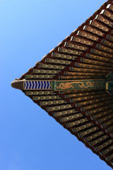 Free Patterned Canopy Of Temple Royalty Free Stock Photo - 13809865