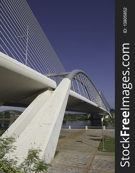 Footing of suspension bridge