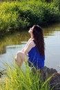 Free Woman Near The River Stock Photos - 13816043