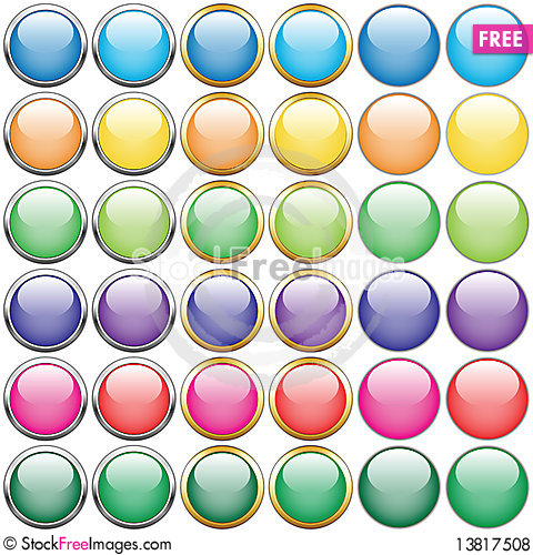 Free Buttons Royalty Free Stock Photos - 13817508