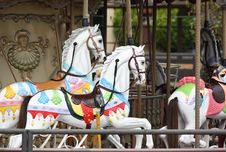 Horses On Merry-go-round Stock Images