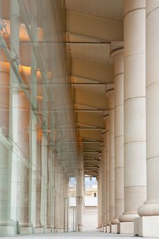Outdoor Corridor Of Teatre Nacional De Catalunya Royalty Free Stock Photography