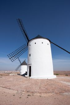 Free Two Spanish Windmills Royalty Free Stock Photography - 13810637