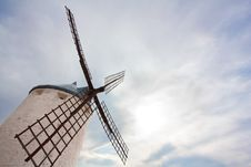 Windmill Against Cloudy Sky Royalty Free Stock Images