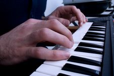 Free Tickling The Keys Royalty Free Stock Photography - 13811207
