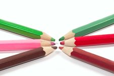Free Six Crayons Stock Images - 13811554