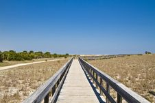 Free Boardwalk In The Dunes Stock Photography - 13811982