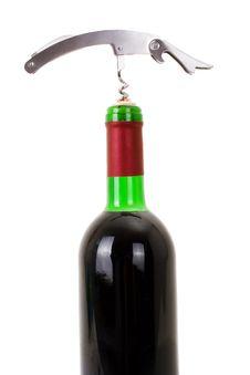 Free Wine Bottle Isolated On A White Background Stock Image - 13812991