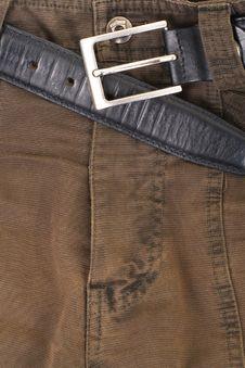 Jeans Texture Khaki Colour Royalty Free Stock Images