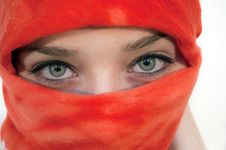 Beautiful Eyes Of A Young Woman Stock Photos