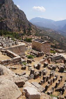 Ruins Of Delphi, Greece, Europe Stock Photo