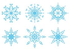 Set With Snowflakes Stock Photography