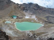 Emerald Lakes On The Tongariro Crossing Royalty Free Stock Photos