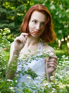 Free Girl In The Garden Stock Image - 13814651