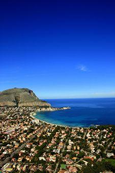 Free Palermo. Mondello Beach Landscape, Sicily Stock Photography - 13815002