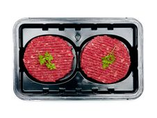 Free Packaged Beef Patties Royalty Free Stock Images - 13815079