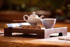 Free Asian Traditional Tea On An Old Rustic Table Royalty Free Stock Image - 13815916