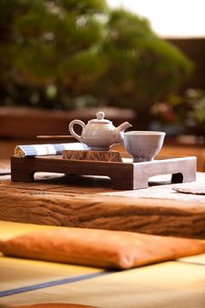 Free Asian Traditional Tea On An Old Rustic Table Royalty Free Stock Images - 13815939