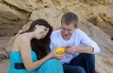 Free Couple Enjoying Themselves On The Beach Stock Photo - 13816070