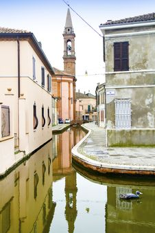 Town Of Comacchio Stock Photography