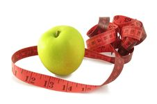 Free Apple And Measuring Tape Stock Photography - 13816602