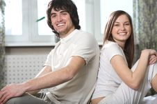 Boy With Smile And Nice Girl Stock Image