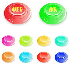 Free Buttons Royalty Free Stock Images - 13816919