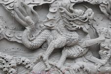 Free Chinese Dragon Wall Royalty Free Stock Photo - 13816935