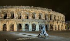 Roman Circus And Bullfighter Stock Image