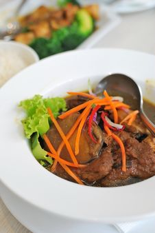 Chinese Vegetarian Mock Chicken Broth Stock Photos