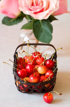 Free Fresh  Cherries Royalty Free Stock Photography - 13817067