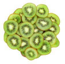 Free Close Up Of Kiwi Slices Stock Photography - 13817082