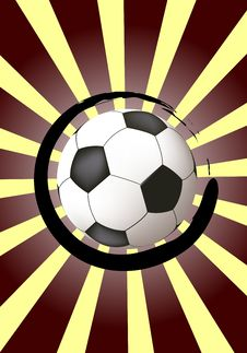 Free Abstract Design With Soccer Ball Royalty Free Stock Images - 13817259