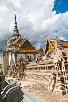 Free Wat Pra Kaeo Temple Palace, Thailand Royalty Free Stock Photos - 13817718