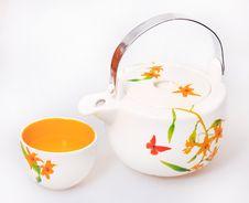 Free Japanese Porcelain Jasmine Tea Kettle Stock Photo - 13818800