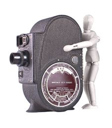Free Vintage Roll Film Movie Camera Stock Image - 13818951