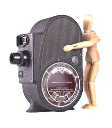 Free A Vintage Roll Film Movie Camera Stock Images - 13818964