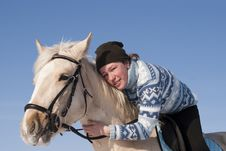 Free Young Girl On Horseback Royalty Free Stock Images - 13819719