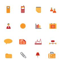 Free Business Icon Set Royalty Free Stock Image - 13819756