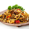 Free Noodles With Seafood Royalty Free Stock Photography - 13820737