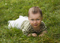 Free Baby  In Grass Royalty Free Stock Photos - 13829938
