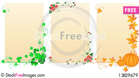 Free Seasonal Banners Royalty Free Stock Images - 13829679