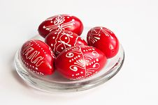 Free Easter Eggs On A Plate Stock Photo - 13820910