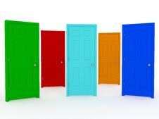 Free Five Doors Royalty Free Stock Photo - 13820925