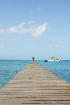 Bayahibe Footbridge Royalty Free Stock Photos