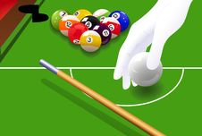 Free Billiard Game Royalty Free Stock Photography - 13820957